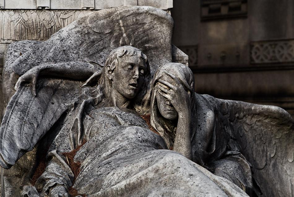 Fabian Fröhlich, Cimitero Monumentale Milano, Tomb sculpture