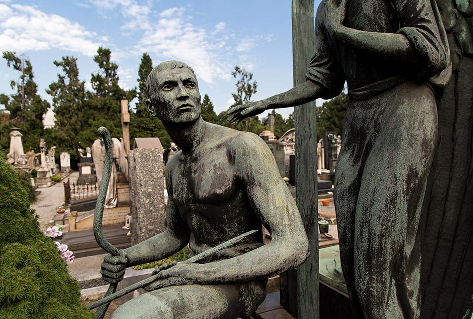 Fabian Fröhlich, Cimitero Monumentale Milano, Tomb sculptures