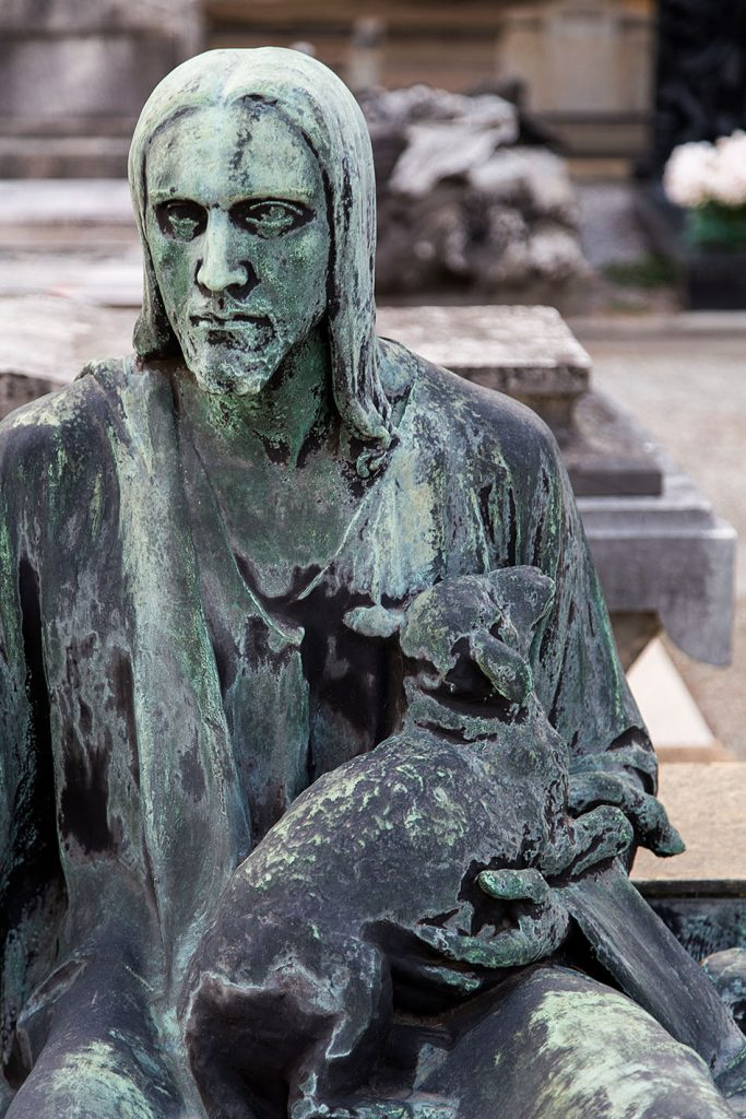 Fabian Fröhlich, Cimitero Monumentale Milano, Christ with lamb