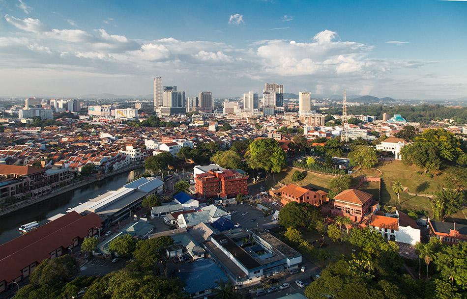 Fabian Fröhlich, Melaka, View from Menara Taming Sari