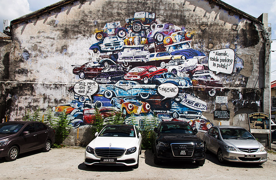 Fabian Fröhlich, Ipoh, Mural at a parking space
