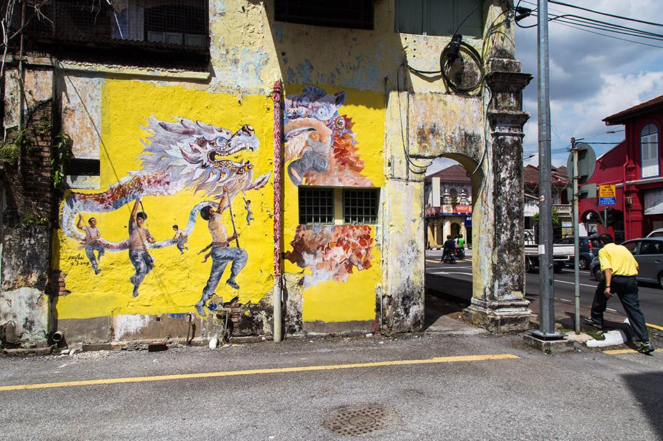 Fabian Fröhlich, Ipoh, Mural Art's Lane, Mural by Eric Lai