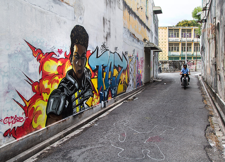 Fabian Fröhlich, Penang, George Town, Lorong Argus