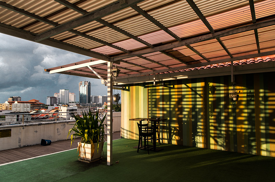 Fabian Fröhlich, Penang, George Town, View from Armenian Street Heritage Hotel terrace