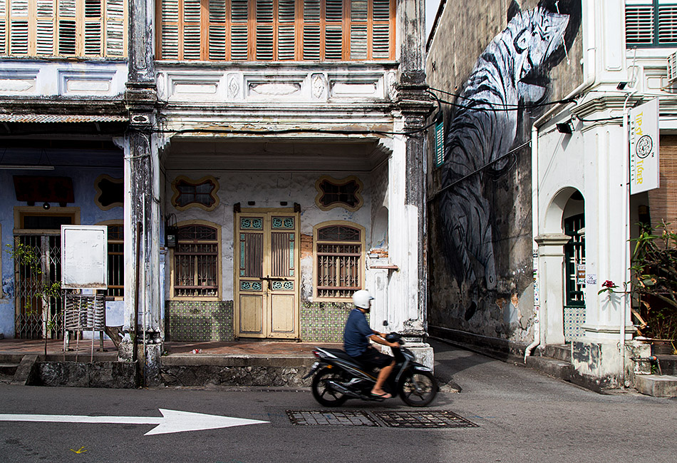Fabian Fröhlich, Penang, George Town, Tiger Mural