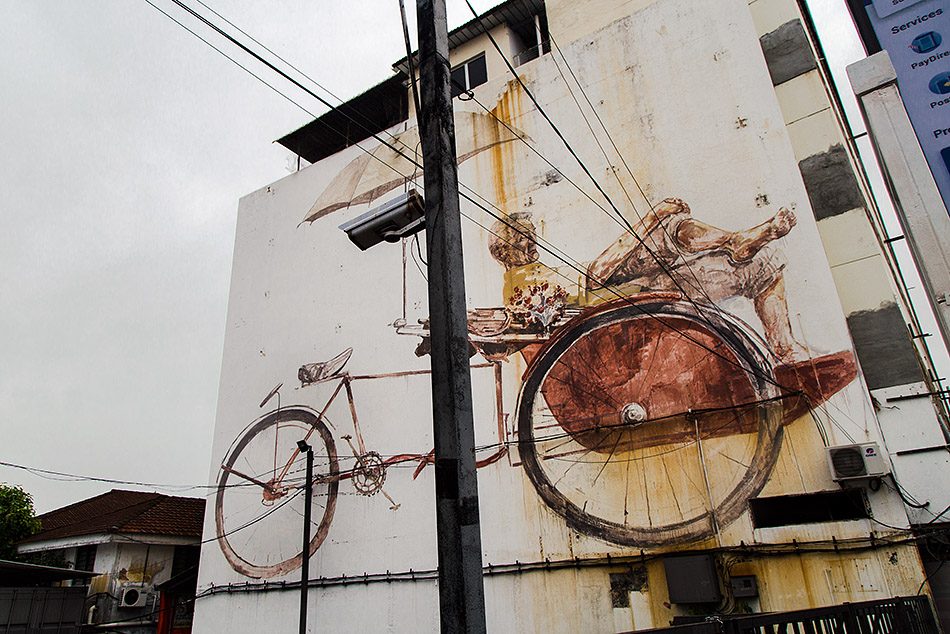 Fabian Fröhlich, Penang, George Town, Trishaw Man by Ernest Zacharevic