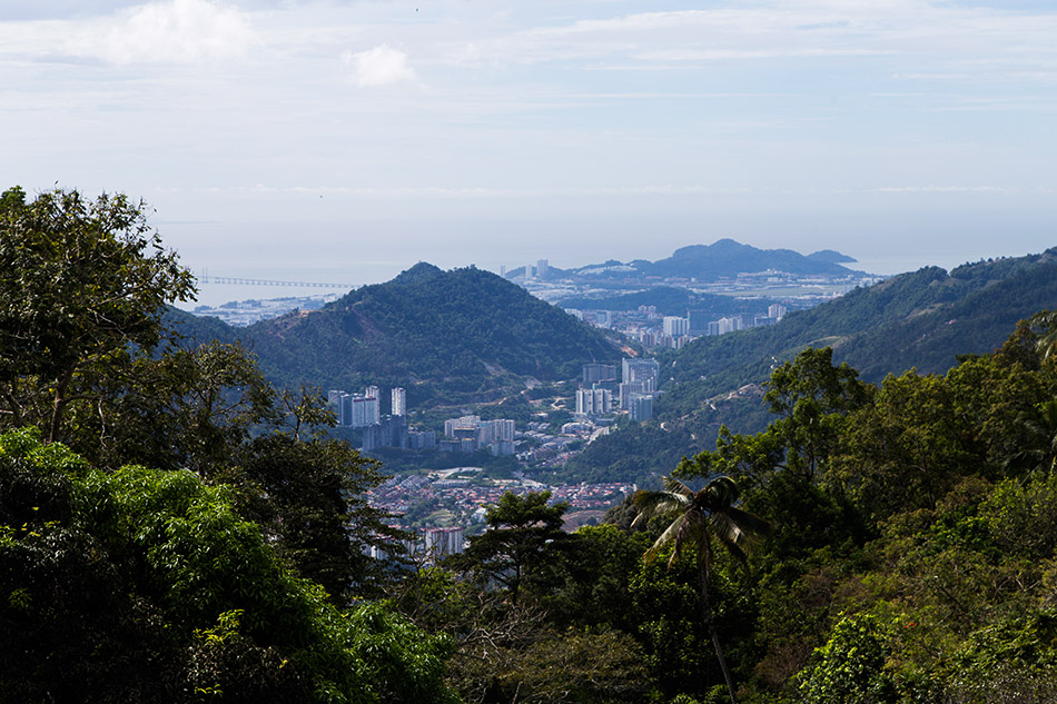 Fabian Fröhlich, View from Penang Hill to george Town