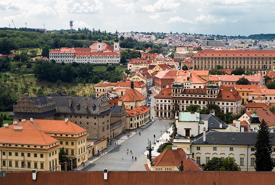 Prager Burg, Blick vom Veitsdom