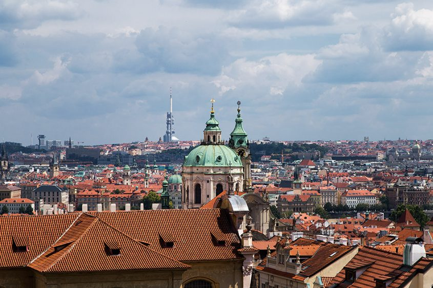 Fabian Fröhlich, Prag, Blick vom Hradschin zu St. Nikolaus