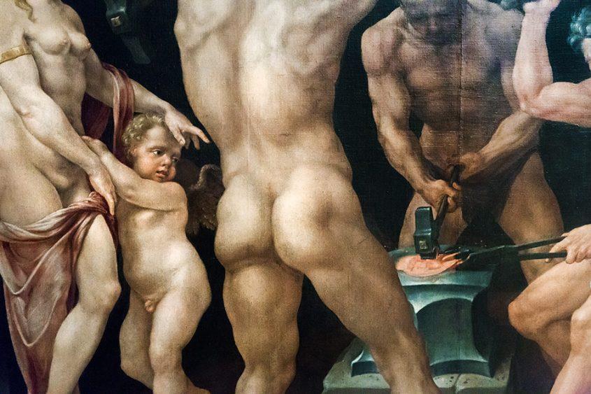 Fabian Fröhlich, Palais Schwarzenberg, Maerten van Heemskerck;, Venus und Amor in Vulcans Schmiede