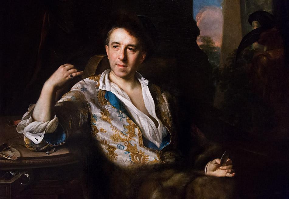 Fabian Fröhlich, Palais Schwarzenberg, Johann Kupetzky, Porträt Johann Kupetzky