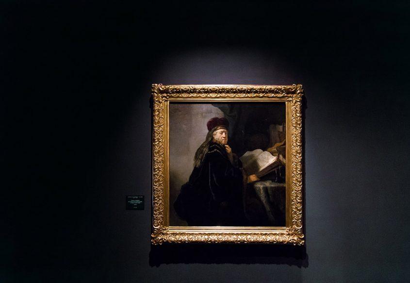 Fabian Fröhlich, Palais Schwarzenberg, Rembrandt, Gelehrter in Studierzimmer
