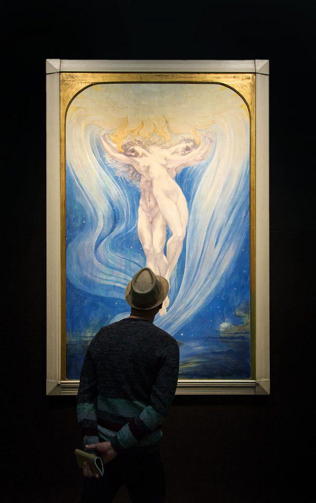 Berlin, Museen und Corona, Alte Nationalgalerie, Belgischer Symbolismus, Jean Delville, Die Liebe der Seelen