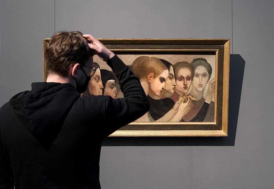 Berlin, Museen und Corona, Alte Nationalgalerie, Belgischer Symbolismus, Emile Fabry, Die Opfergabe