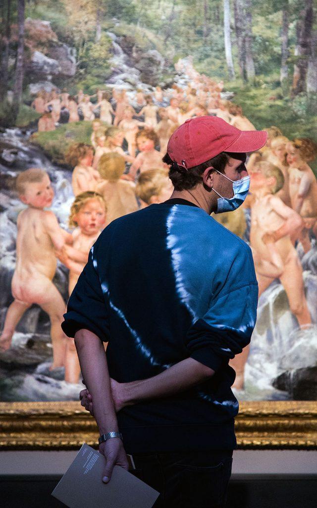 Berlin, Museen und Corona, Alte Nationalgalerie, Belgischer Symbolismus, Léon Frédéric, , Die Quelle des Lebens