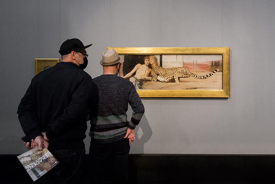 Berlin, Museen und Corona, Alte Nationalgalerie, Belgischer Symbolismus, Fernand Khnopff, The Caresses