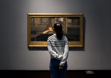 Berlin, Museen und Corona, Alte Nationalgalerie, Belgischer Symbolismus, Fernand Khnopff, I lock my door upon myself