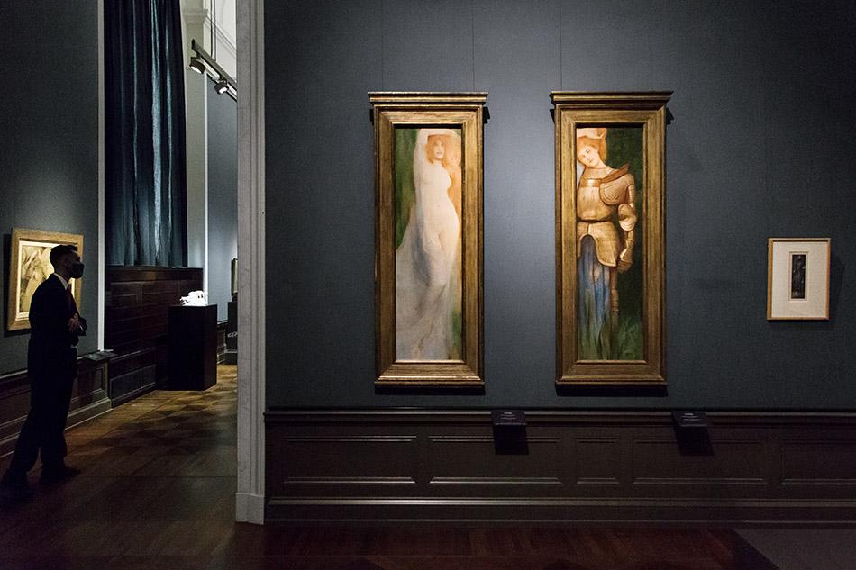 Berlin, Museen und Corona, Alte Nationalgalerie, Belgischer Symbolismus, Fernand Khnopff, Acrasia / Britomart