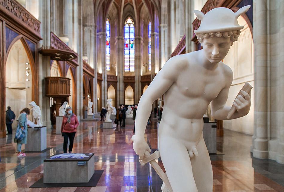 Berlin, Museen und Corona, Friedrichswerdersche Kirche, Eduard Meyer, Merkur