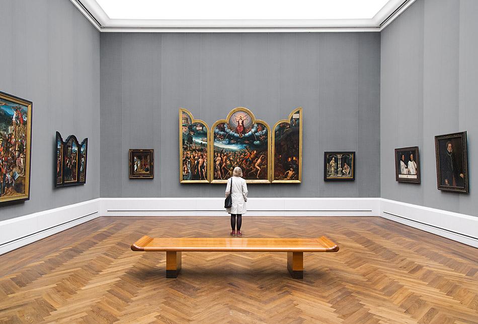 Berlin, Museen und Corona,Gemäldegalerie, Jean Bellegambe, Das jüngste Gericht