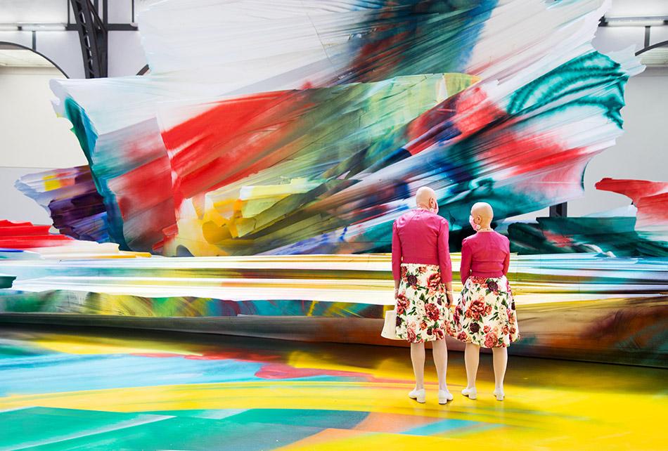 Berlin, Museen und Corona, Hamburger Bahnhof, Exhibition Katharina Grosse. It Wasn't Us