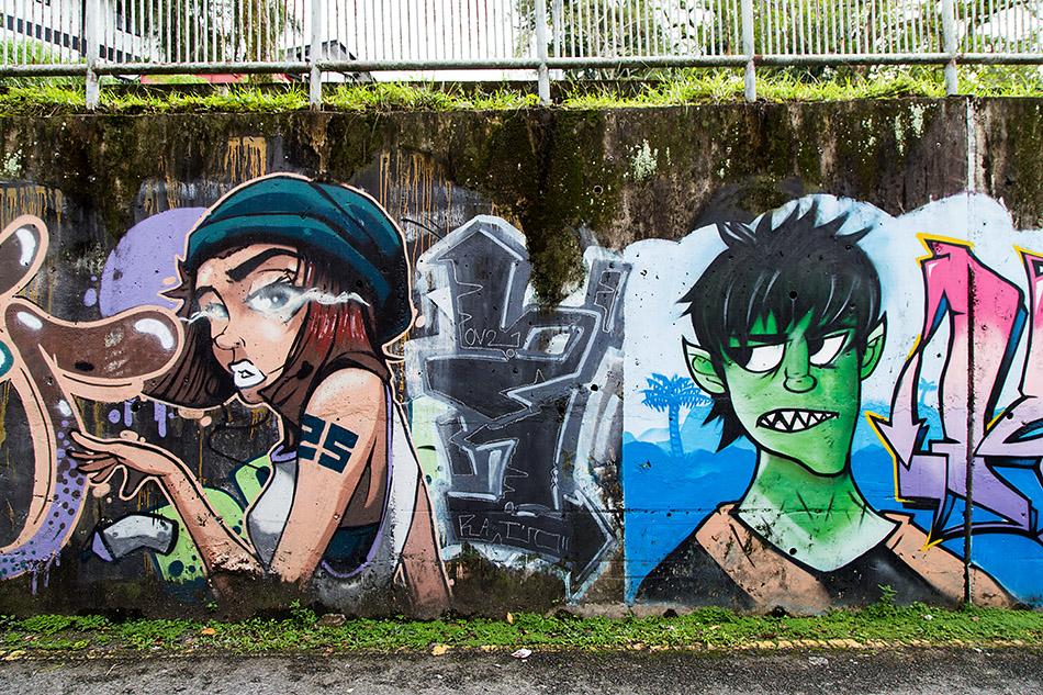 Fabian Fröhlich, Malaysia, Kuching, Mural at Jalan Carpenter