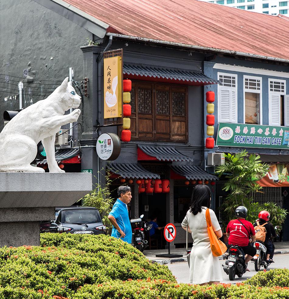 Fabian Fröhlich, Malaysia, Kuching, Cat Monument, Jalan Padungan