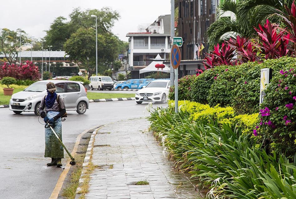 Fabian Fröhlich, Malaysia, Kuching, Jalan Padungan