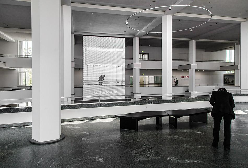Berlin, Museen und Corona, Kulturforum Foyer