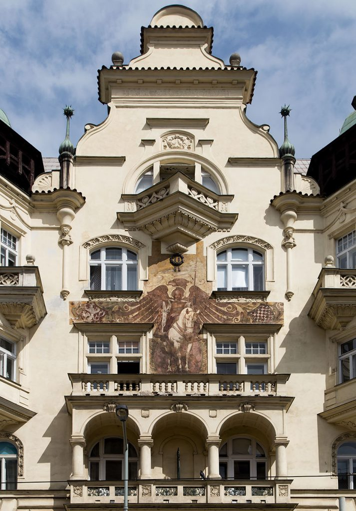 Fabian Fröhlich, Prag, Mural with St. Wenceslaus in Dukelských Hrdinů