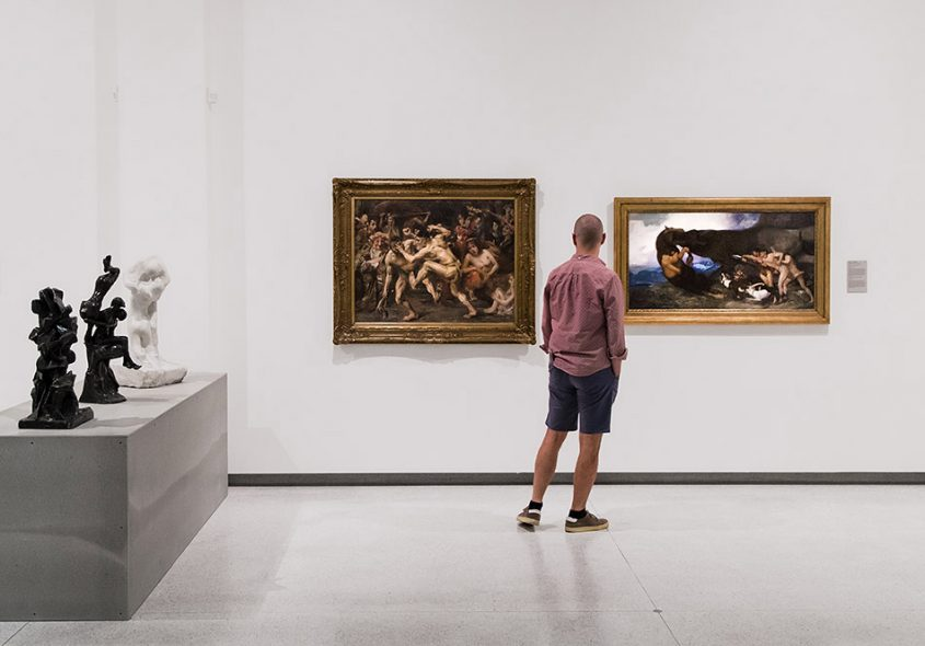Fabian Fröhlich, Nationalgalerie Prag, Lovis Corinth, Odysseus Fighting with the Beggar; Rudolf Jettmar; Fighting with a Monster