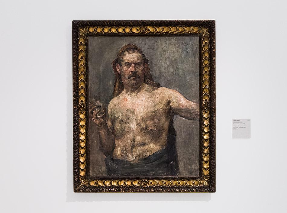 Fabian Fröhlich, Nationalgalerie Prag, Lovis Corinth, Selbstportät mit Glas