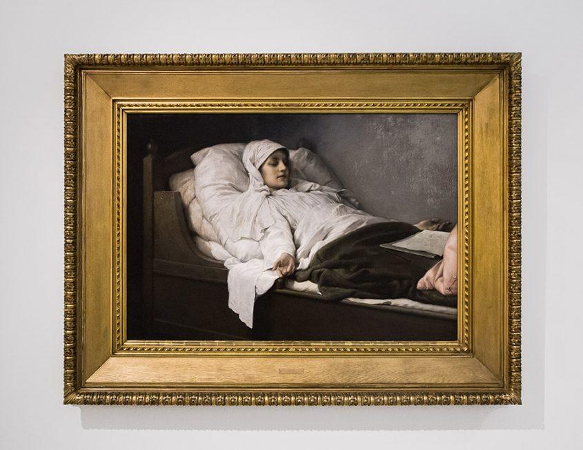 Fabian Fröhlich, Nationalgalerie Prag, Gabriel Max, Die Seherin von Prevorst im hohen Schlaf