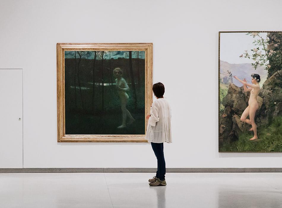 Fabian Fröhlich, Nationalgalerie Prag, Antonín Hudeček, Psyche; Karel Vítězslav Mašek , Frühling