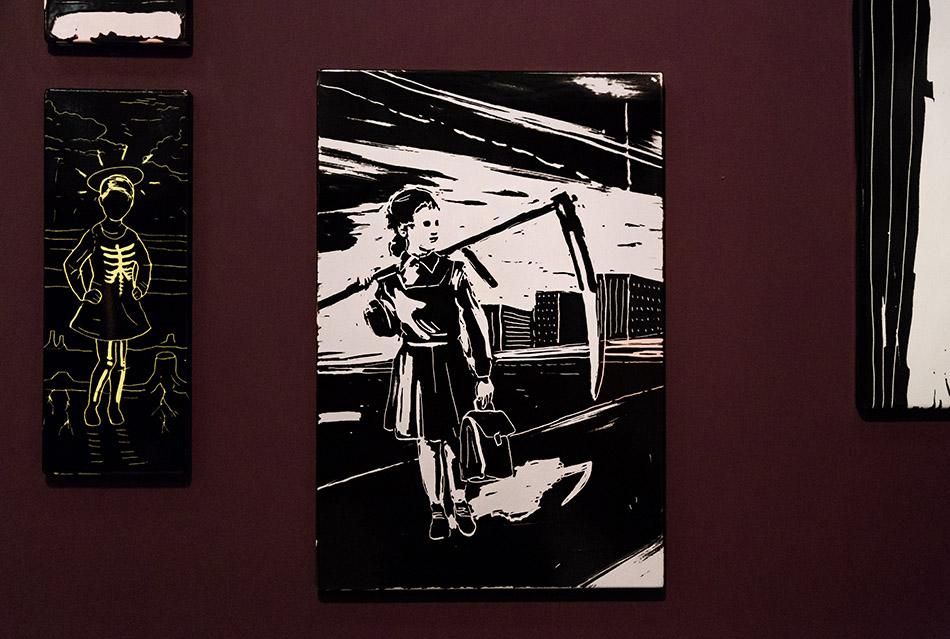 "Fabian Fröhlich, Nationalgalerie Prag, Exhibition ""A Dream within a Dream: Edgar Allan Poe and Art in the Czech lands"", works by Jakub Janovsky"