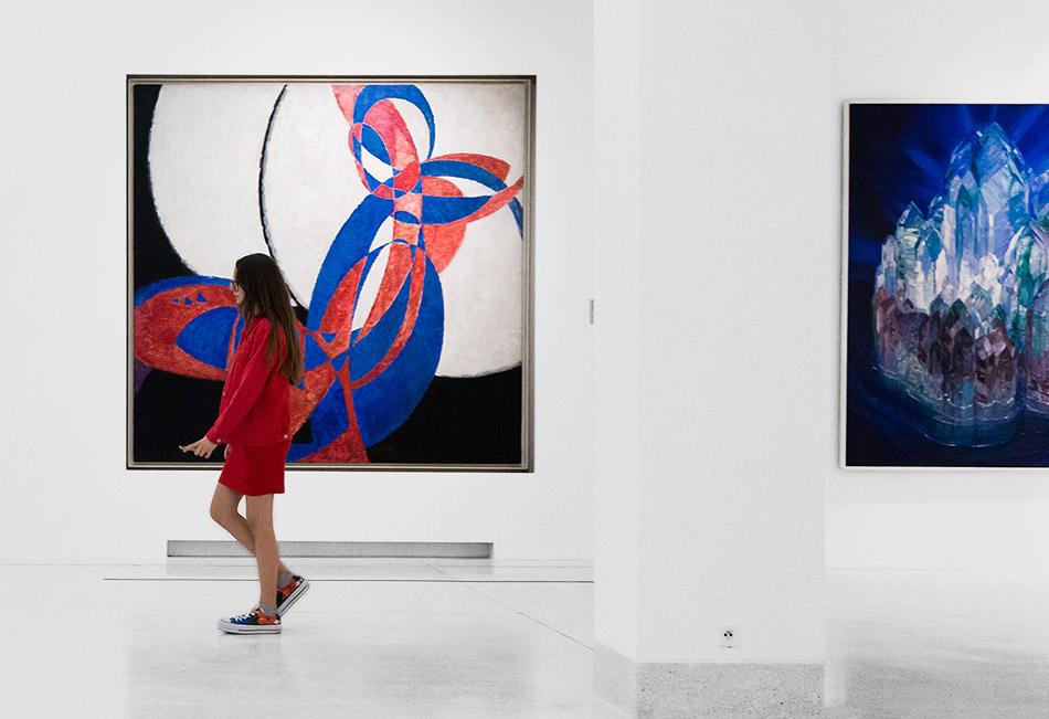 Fabian Fröhlich, Nationalgalerie Prag, František Kupka, Amorphis, Fugue in Two Colours; Wenzel Hablik, Kristall