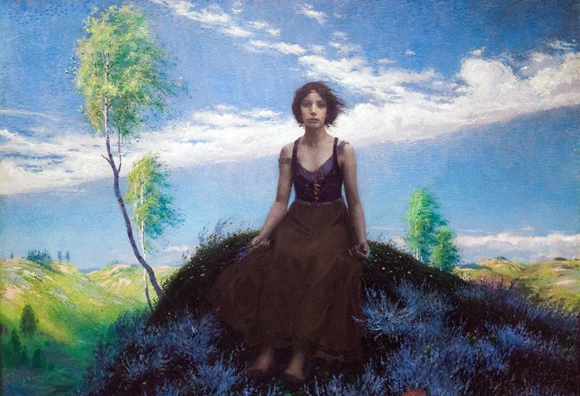 Fabian Fröhlich, Nationalgalerie Prag, Max Švabinský, Das arme Land