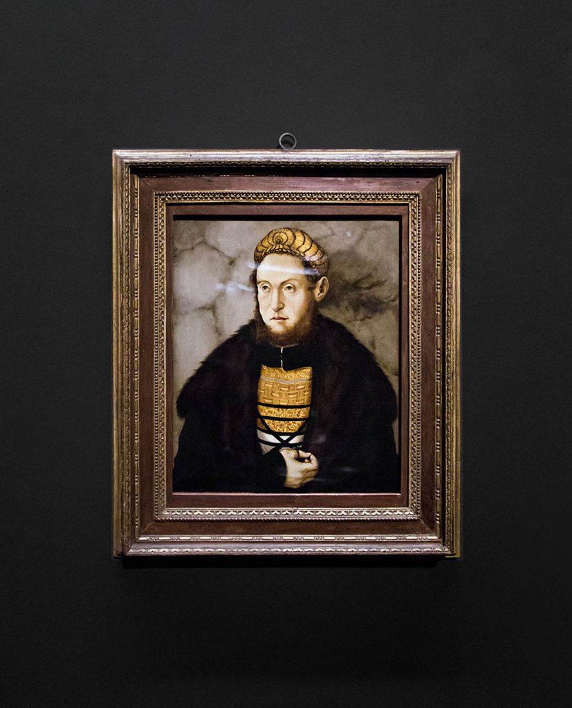 Fabian Fröhlich, Staatsgalerie Stuttgart, Hans Burgkmair der Ältere, Bildnis eines vornehmen Mannes mit Goldhaube