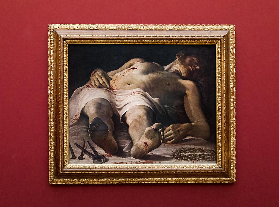 Fabian Fröhlich, Staatsgalerie Stuttgart, Annibale Carracci, Leichnam Christi mit den Leidenswerkzeugen