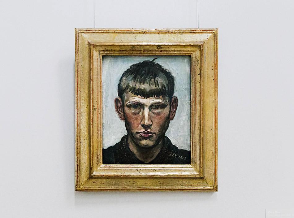 Fabian Fröhlich, Staatsgalerie Stuttgart, Otto Dix, Kleines Selbstporträt