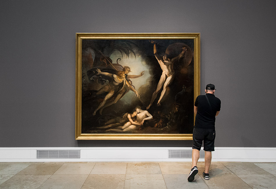 Fabian Fröhlich, Staatsgalerie Stuttgart, Johann Heinrich Füssli, Satan, von Ithuriels Speer berührt
