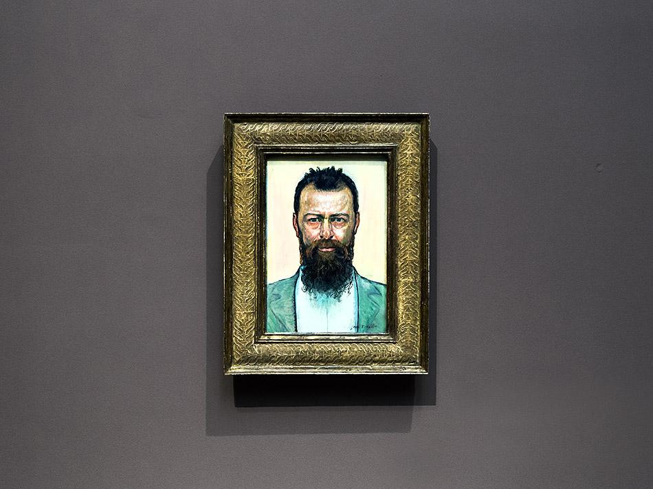 Fabian Fröhlich, Staatsgalerie Stuttgart, Ferdinand Hodler, Selbstporträt