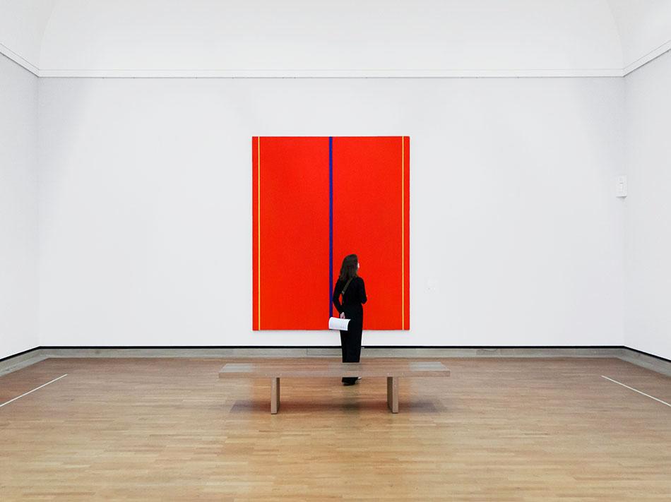 Fabian Fröhlich, Staatsgalerie Stuttgart, Barnett Newman, Who's Afraid of Red, Yellow and Blue II