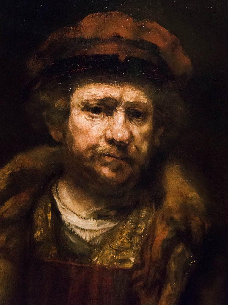 Fabian Fröhlich, Staatsgalerie Stuttgart, Rembrandt (Werkstatt), Selbstporträt mit roter Mütze