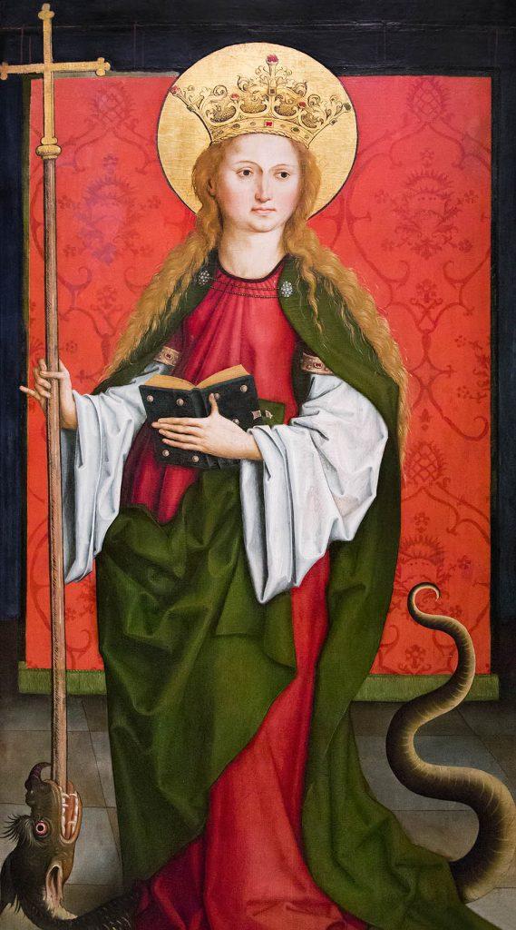 Fabian Fröhlich, Staatsgalerie Stuttgart, Bartholomäus Zeitblom, Hl. Margareta von Antiochia