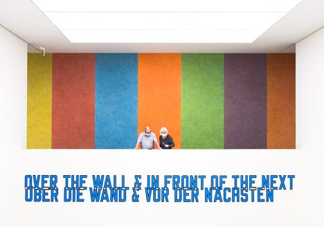 Fabian Fröhlich, Kunsthaus Stuttgart, Lawrence Weiner, Over the Wall and in Front of the Next / Sol Lewitt, Wall Drawing #422