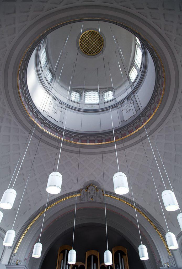 Fabian Fröhlich, Stuttgart, Pragfriedhof, Krematorium, Feierhalle