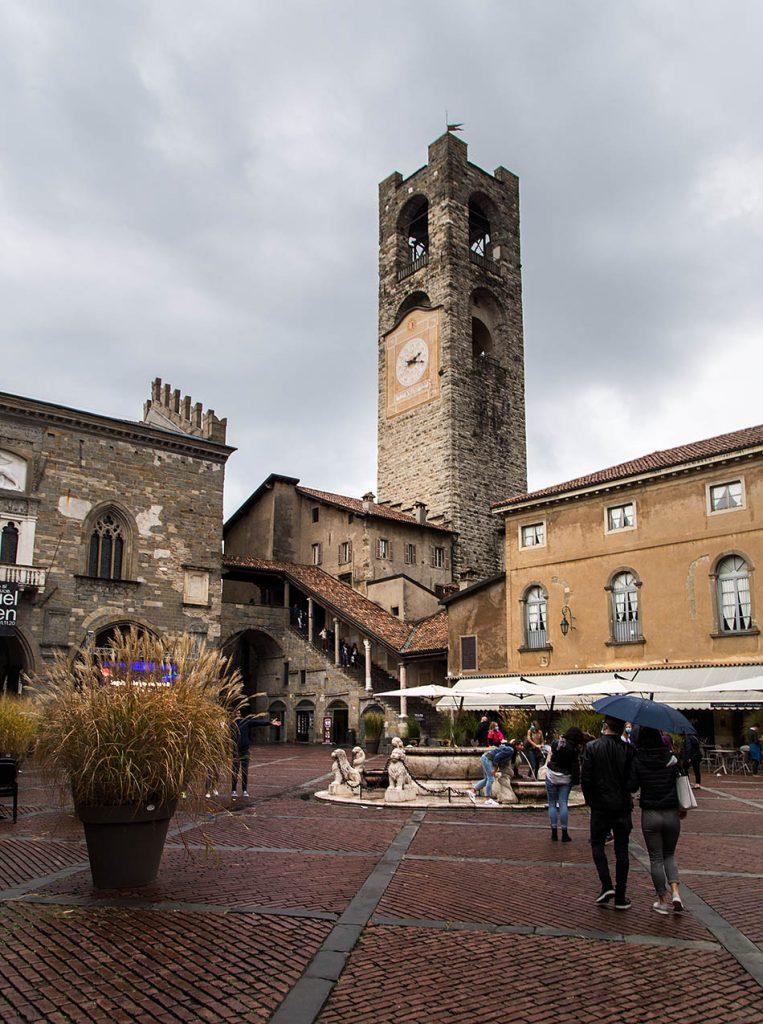 Fabian Fröhlich, Bergamo, Città Alta, Piazza Vecchia and Campanone