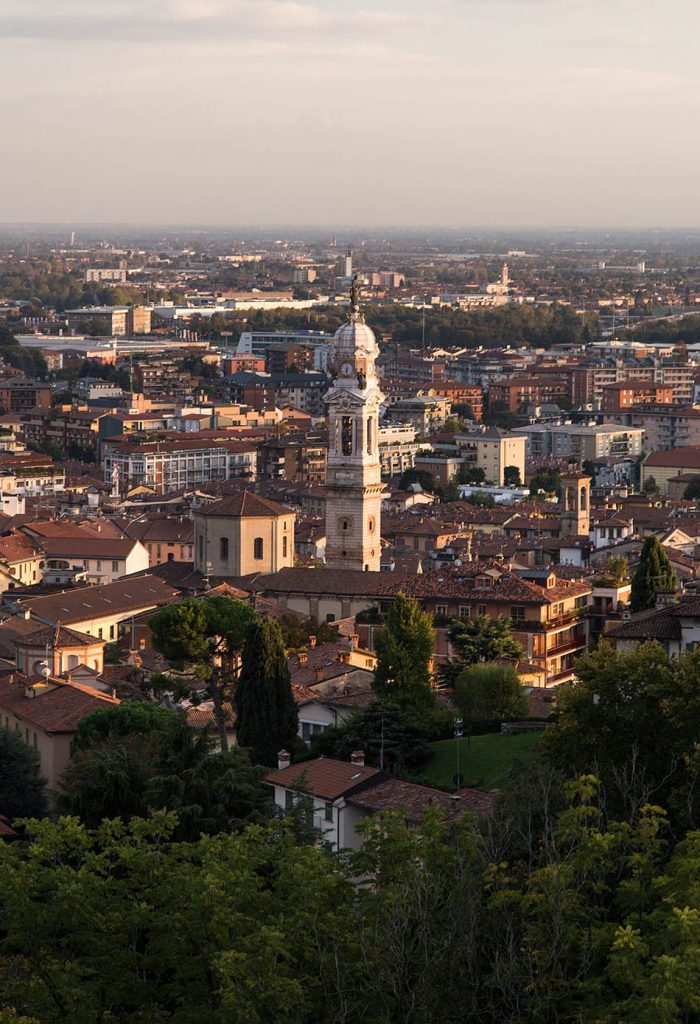 Fabian Fröhlich, Bergamo, Città Alta, View from Piattaforma di Sant'Andrea to Città Bassa
