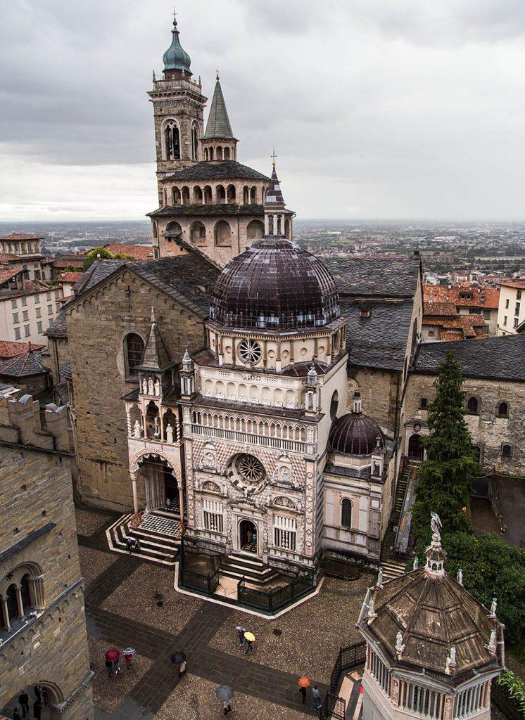 Fabian Fröhlich, Bergamo, Città Alta, View from Campanone to Duomo and santa Maria Maggiore